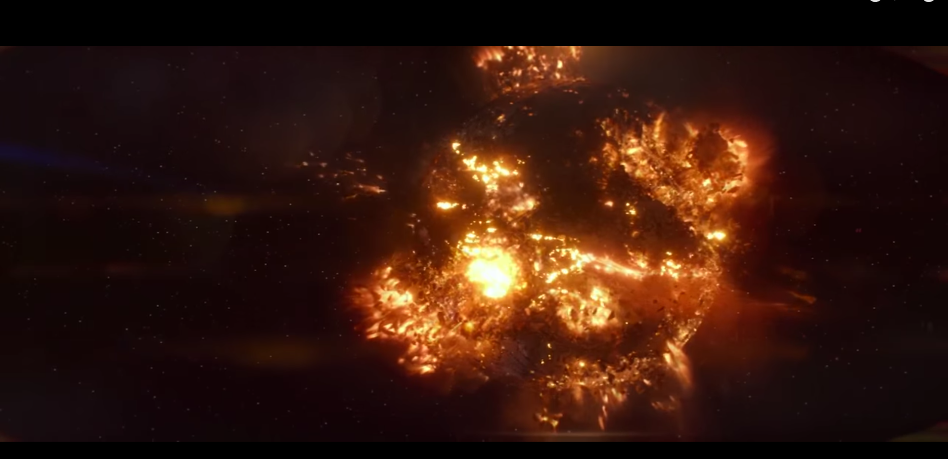 The Force Awakens Starkiller base destroeyed